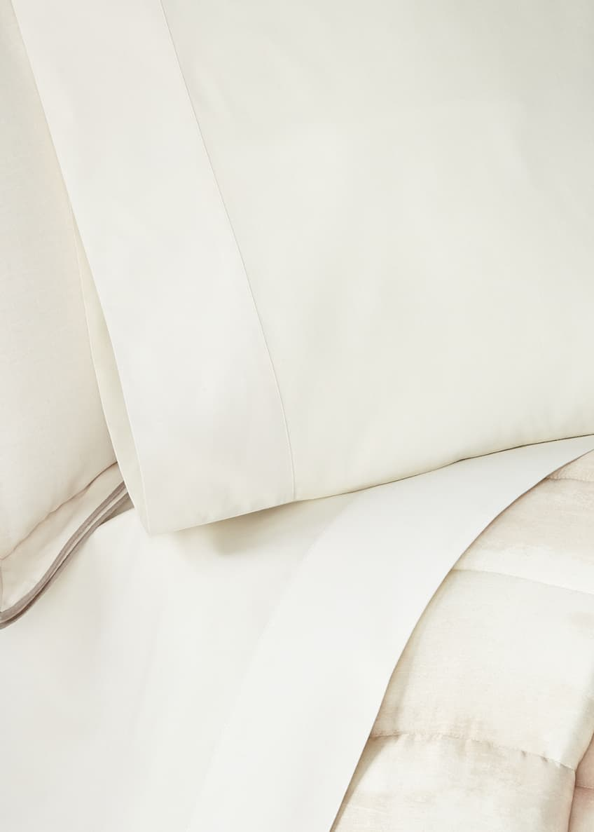 Image 1 of 3: Striated Band Standard Pillowcases, Set of 2