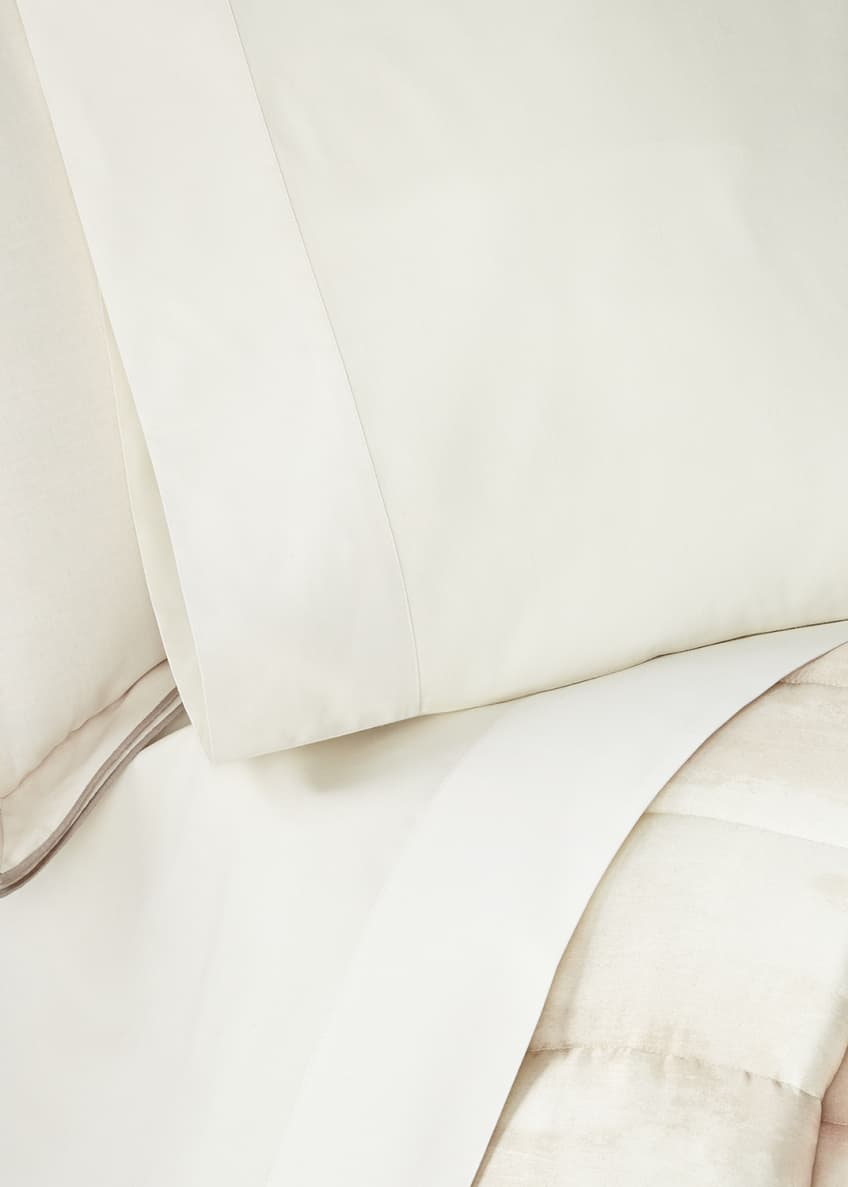 Image 1 of 3: Striated Band King Fitted Sheet