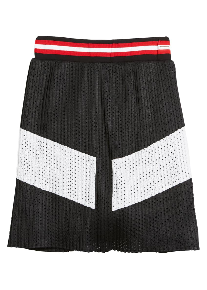 Givenchy Two-Tone Pleated Mesh Skirt, Size 4-5 &