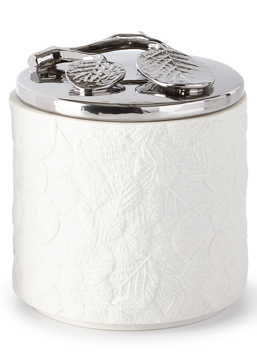 Image 1 of 1: Botanical Leaf Cover Jar