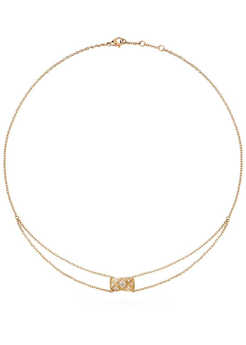 Image 1 of 1: COCO CRUSH PENDANT IN 18K BEIGE GOLD AND DIAMONDS