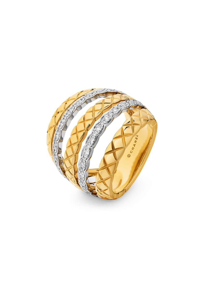 Image 1 of 1: COCO CRUSH RING IN 18K GOLD AND DIAMONDS