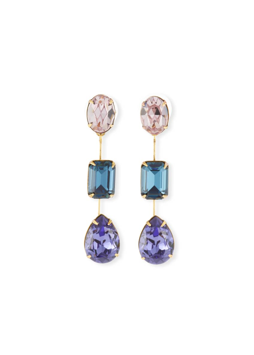Jennifer Behr Allanah Triple Drop Earrings