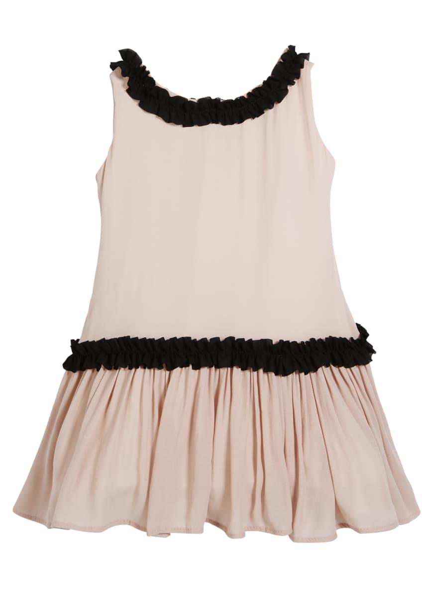 Helena Sleeveless Georgette Ruffle Dress, Size 2-6 &