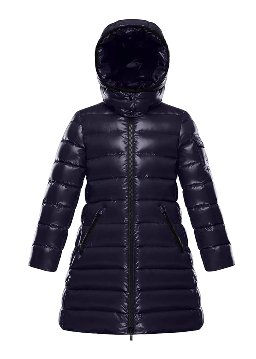 Moncler Moka Quilted Puffer Coat w/ Hood, Size