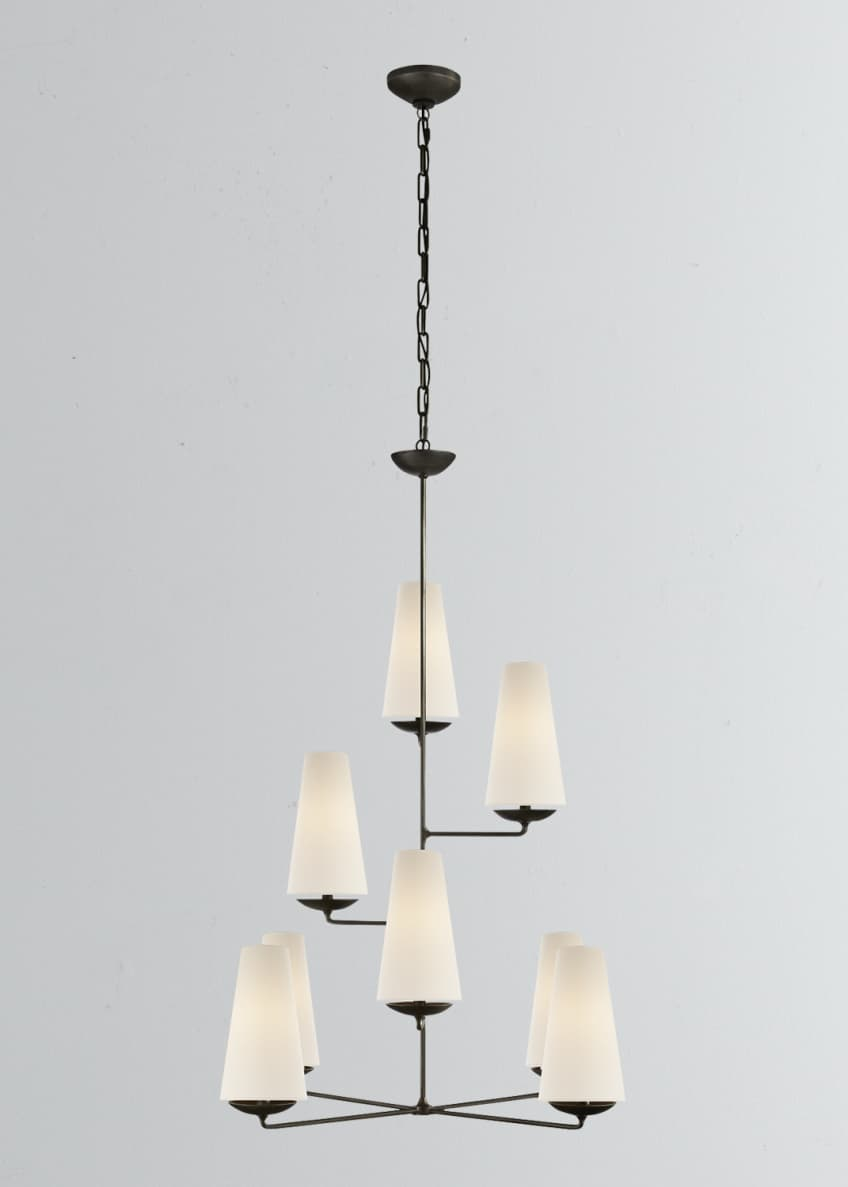 Image 1 of 1: Fontaine Vertical 8-Light Chandelier