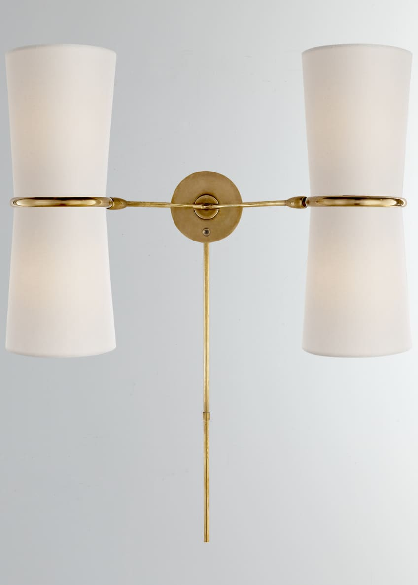 Image 1 of 1: Clarkson Double Sconce