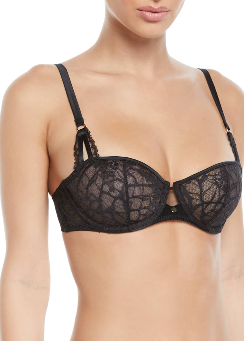 Chantelle Segur Unlined Lace Demi Bra & Matching