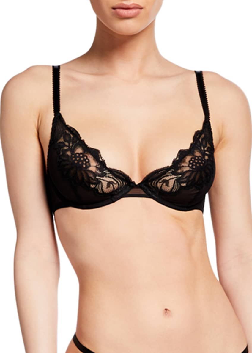 Image 1 of 4: Beaty Street Lace Plunge Bra