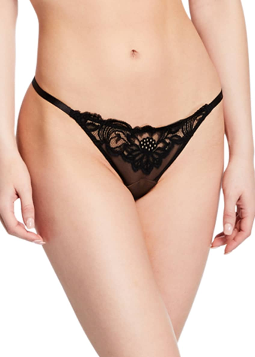 Image 1 of 2: Beaty Street Lace Thong