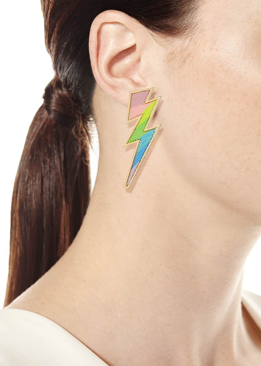 Image 2 of 2: Lightning Bolt Thread Earrings