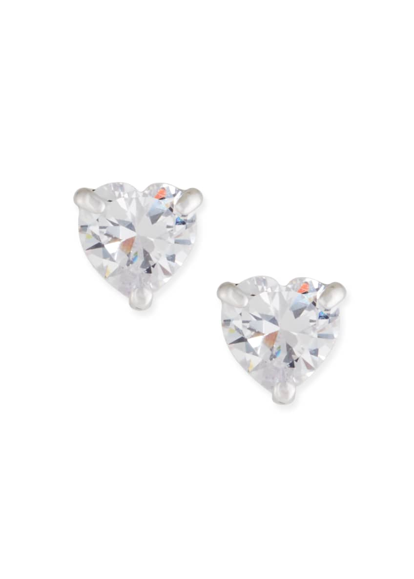 Fallon Solitaire Heart Stud Earrings