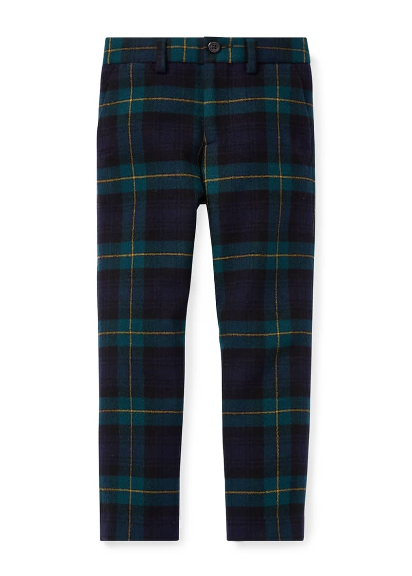 Ralph Lauren Childrenswear Newport Tartan Plaid Wool Pants,