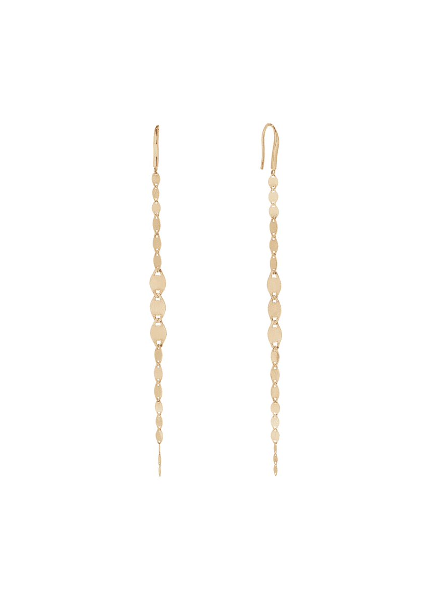 LANA 14k Gold Nude Graduating Dangle Earrings