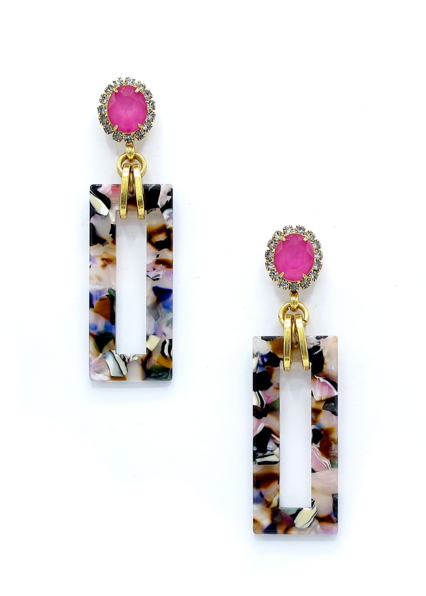 Elizabeth Cole Gaylen Link Drop Earrings