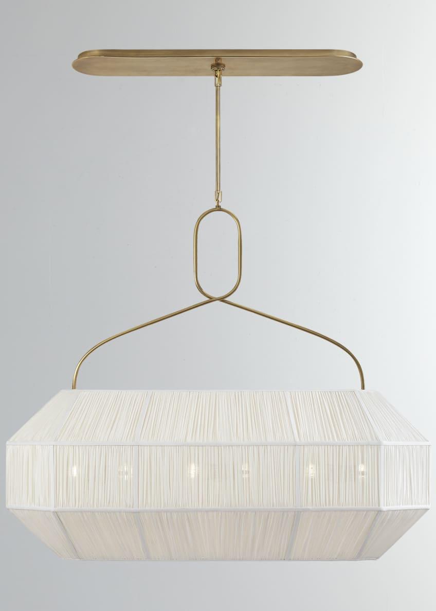 Kelly Wearstler Forza Medium Gathered Linear Lantern
