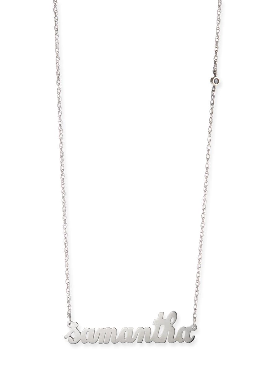 Jennifer Zeuner Abigail Personalized Diamond Necklace
