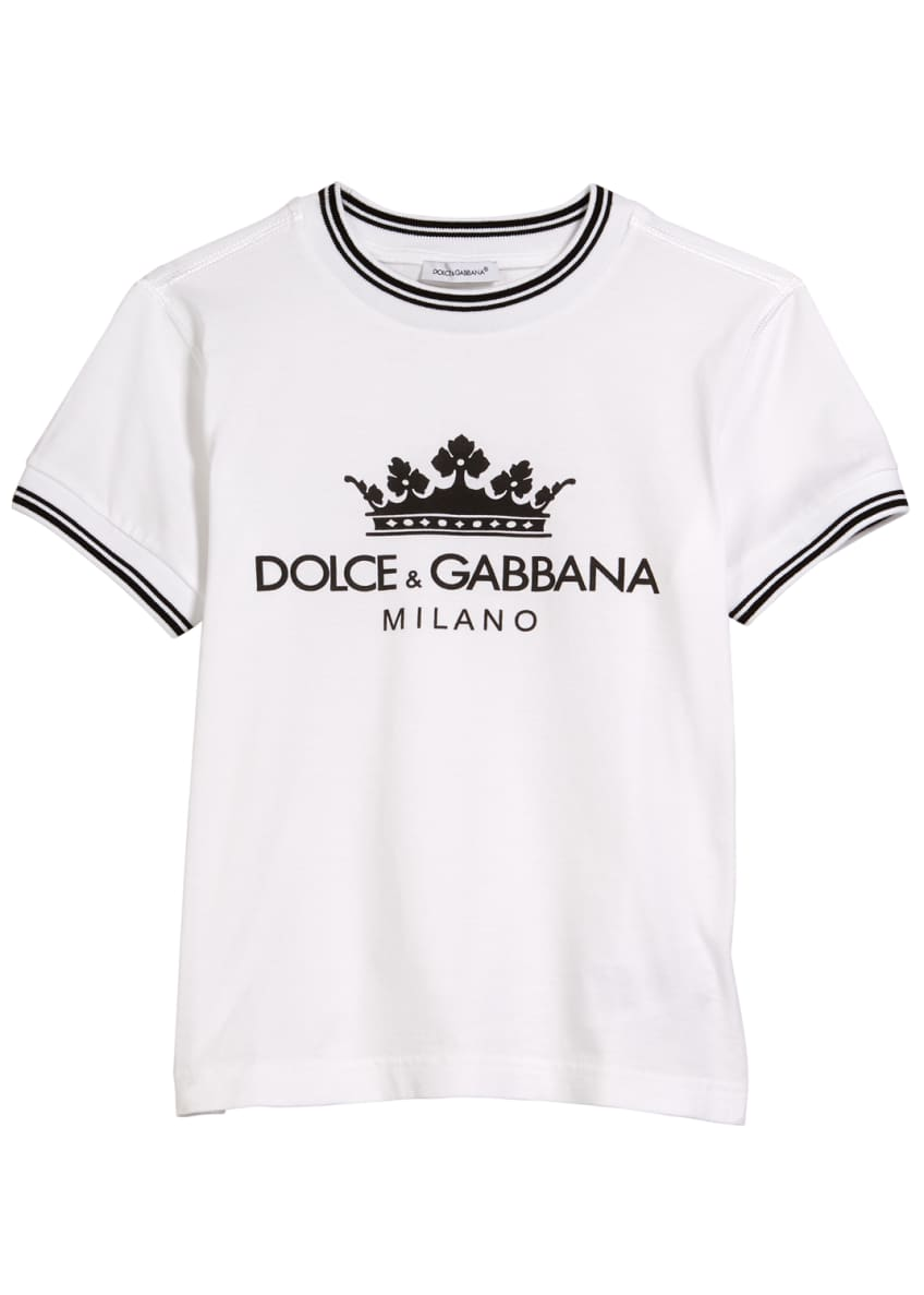 Dolce & Gabbana Crown D&G Logo Ringer Tee,