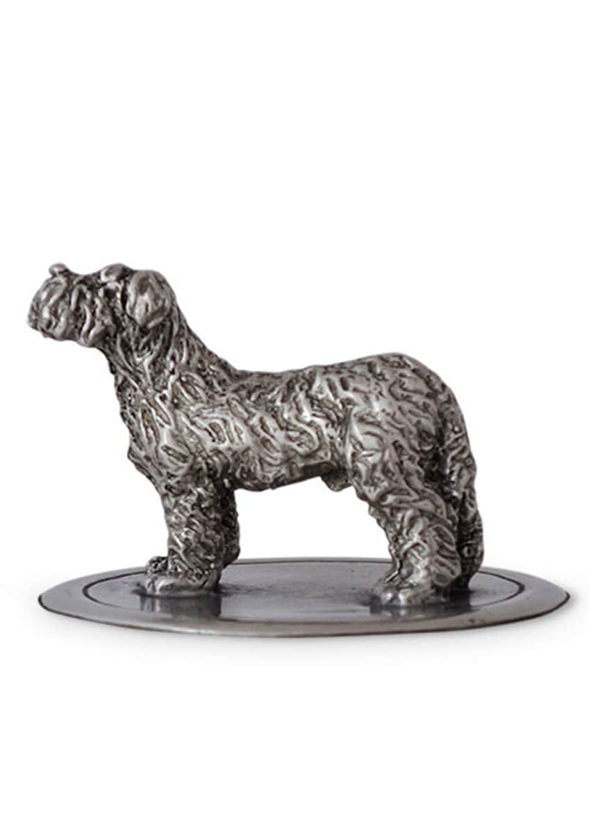 Image 2 of 2: Glass Cookie Jar with Dog Finial