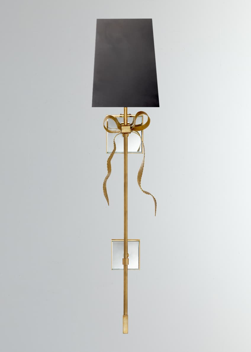 Image 1 of 1: Ellery Grosgrain Bow Tail Sconce