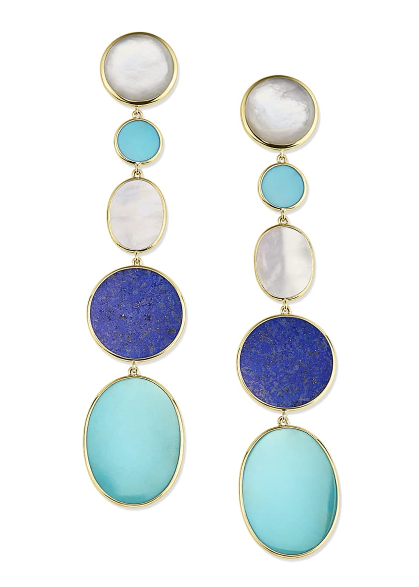 Ippolita 18K Polished Rock Candy Long Linear Earrings