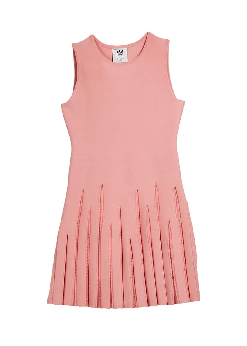 Milly Minis Pointelle Godet Flare Dress, Size 74-6