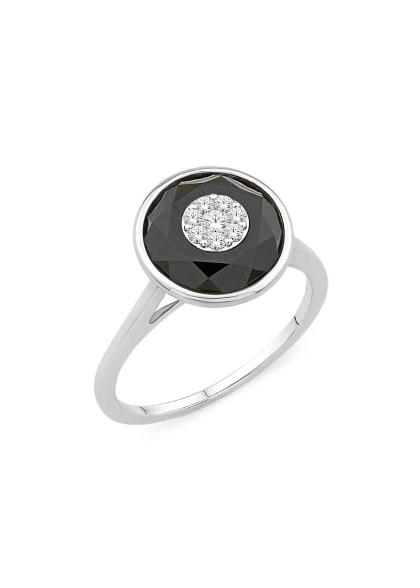 Bhansali 18k White Gold 10mm Round Ring w/