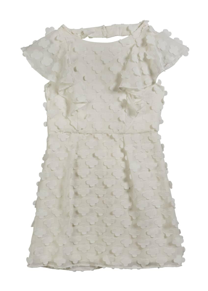 Milly Minis Esme 3D Quatrefoil Applique Dress w/