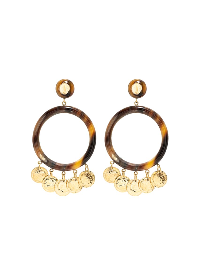 Ashley Pittman Azali Mixed-Horn Shaker Earrings