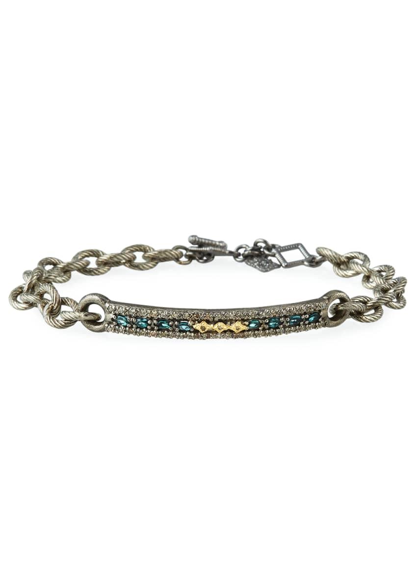 Armenta Old World Crivelli-Bar Bracelet w/ Diamonds &
