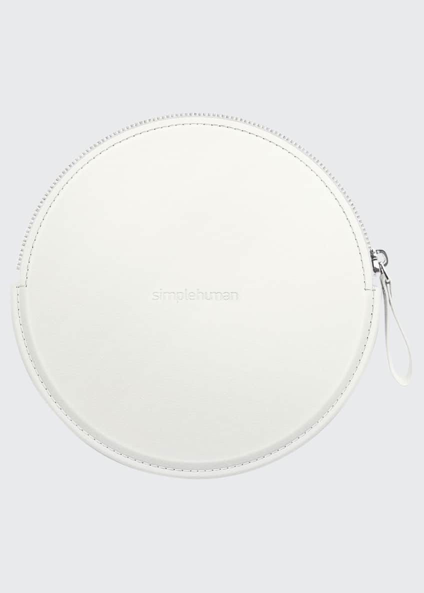 Image 1 of 2: Sensor Mirror Compact Zip Case, Hand-Stitched Vegan Leather