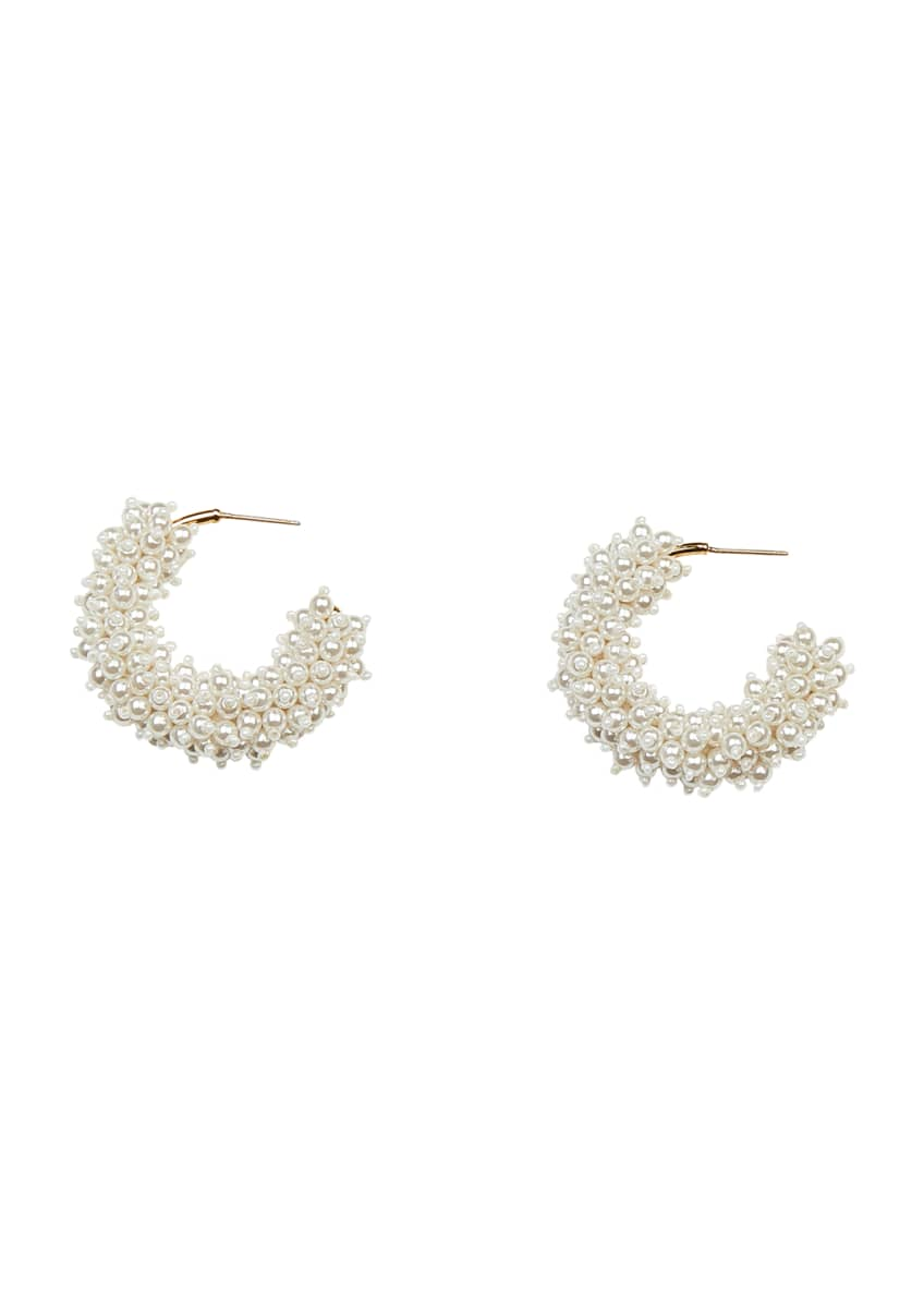 Mignonne Gavigan Taylor Mini Hoop Earrings, Pearly