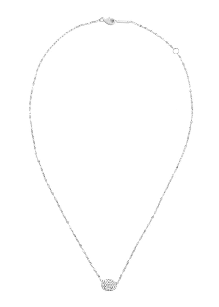 LANA 14k Diamond Pave Oval Pendant Necklace