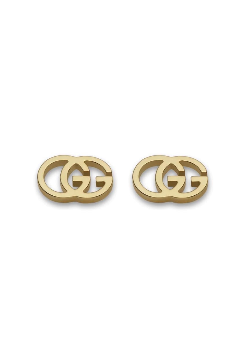 Gucci 18K Gold Running G Stud Earrings