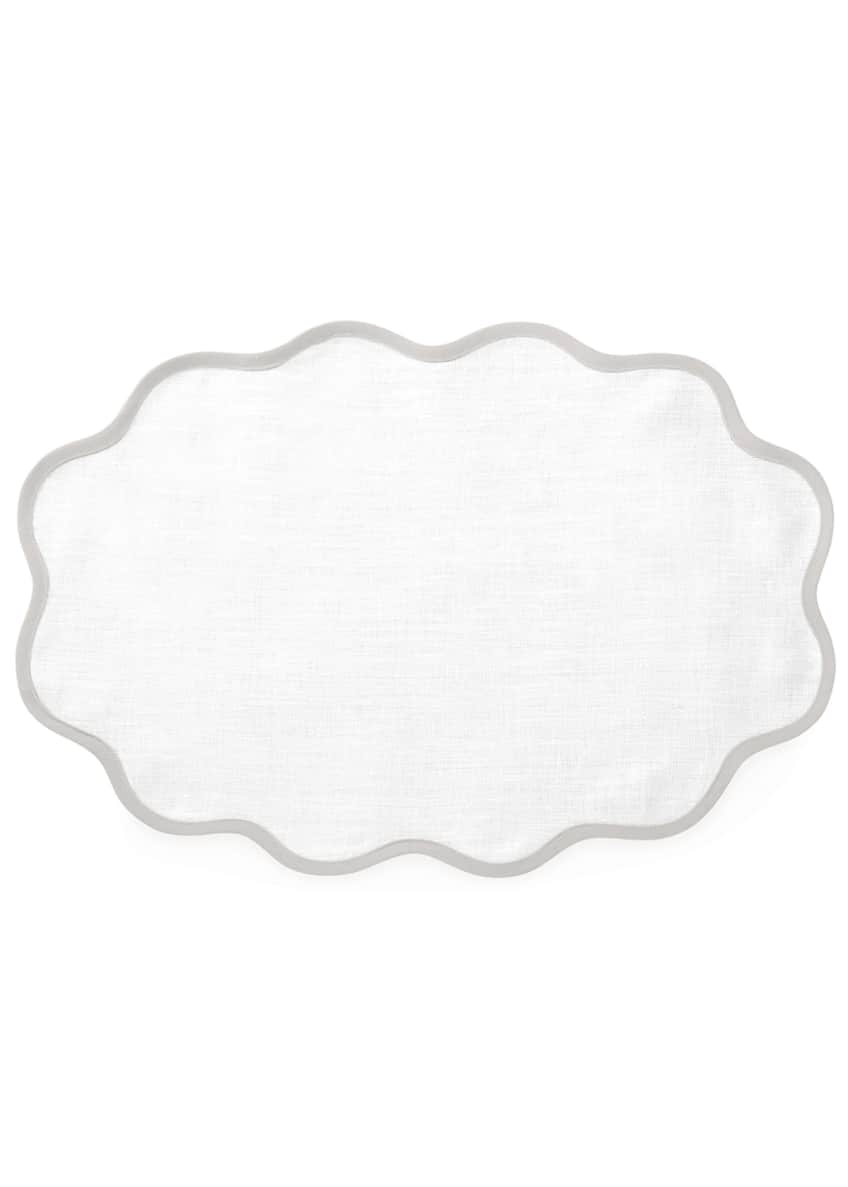 Image 1 of 1: Casual Couture Scallop Placemats, Set of 4