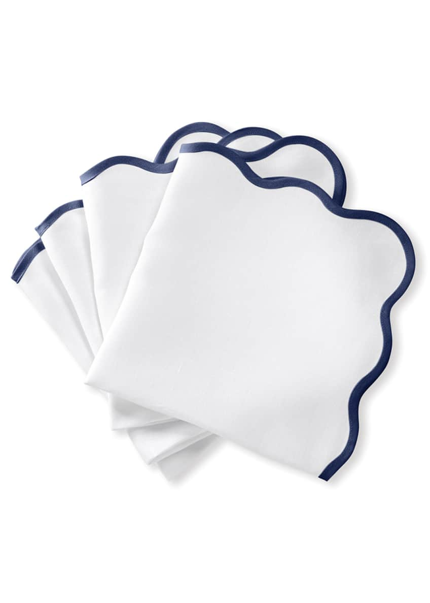 Image 1 of 1: Casual Couture Scallop Napkins, Set of 4