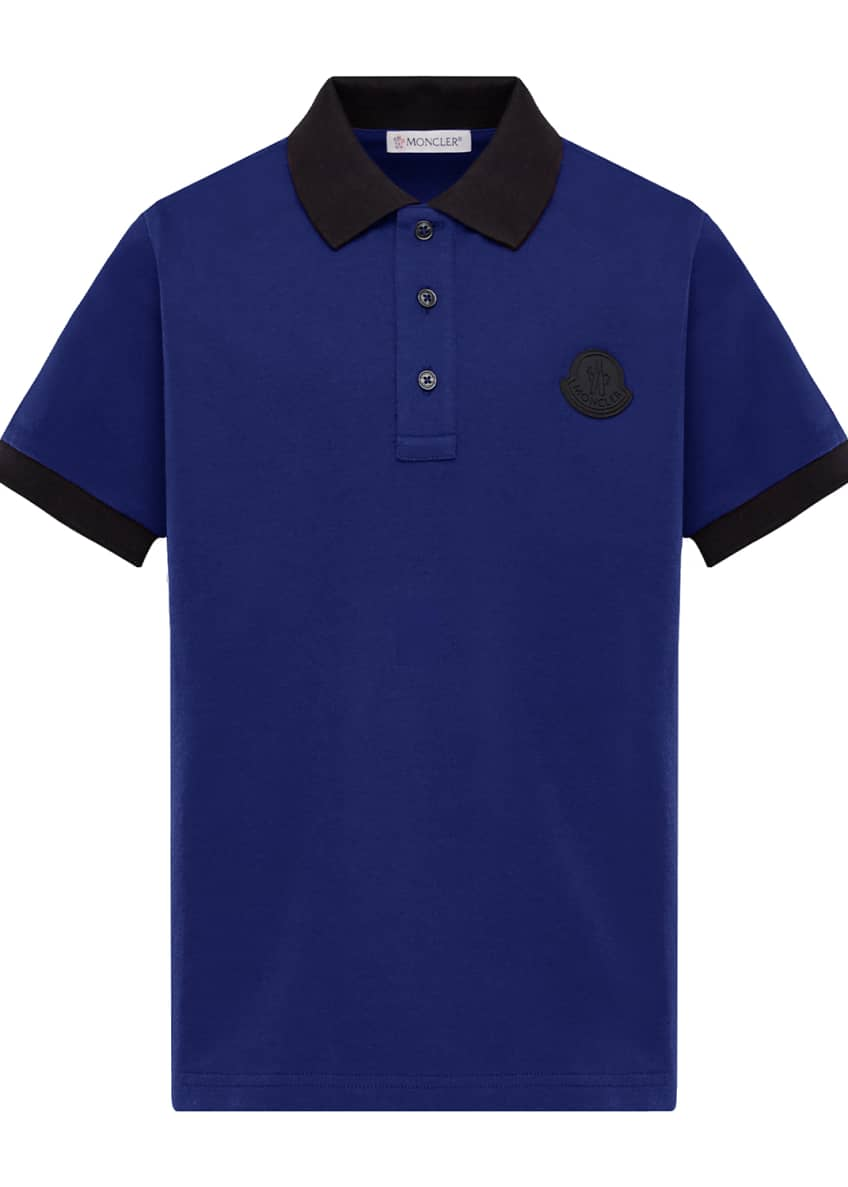 Image 1 of 2: Contrast-Trim Polo Shirt, Size 8-14
