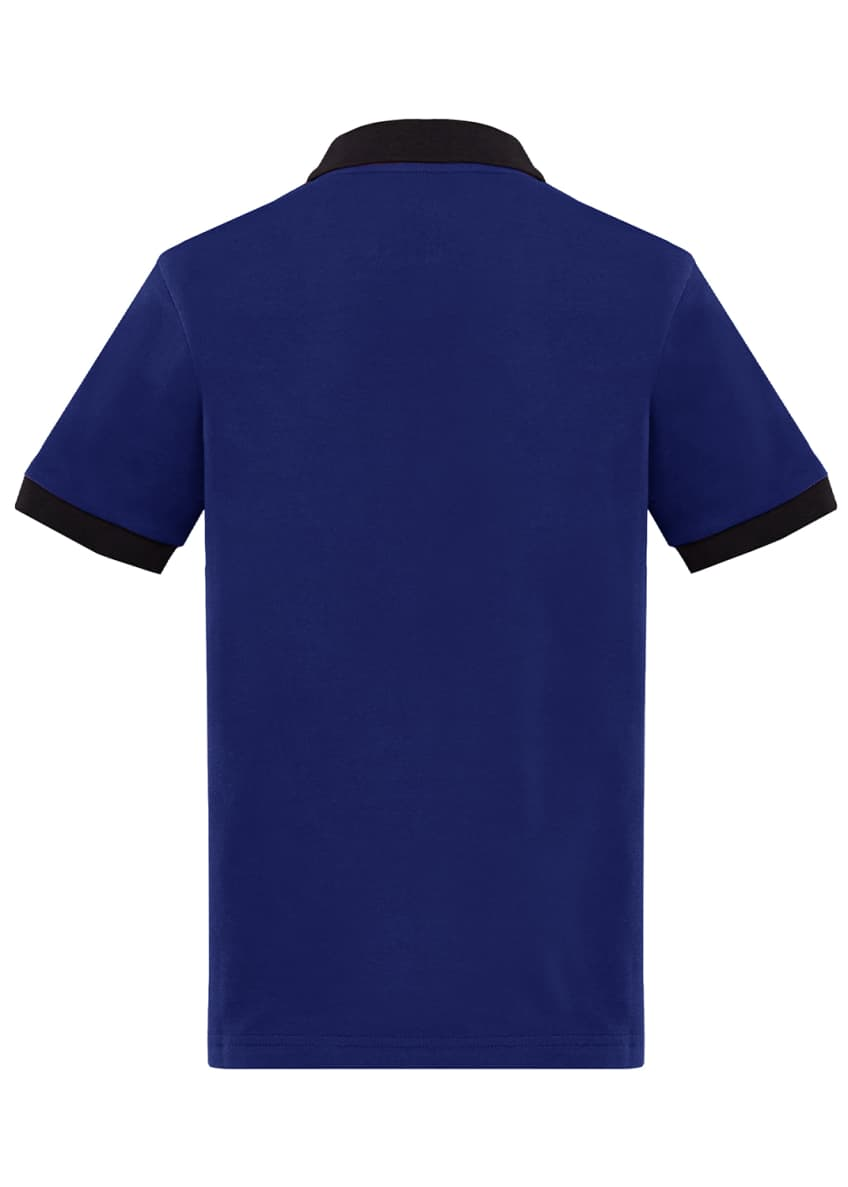 Image 2 of 3: Contrast-Trim Polo Shirt, Size 4-6