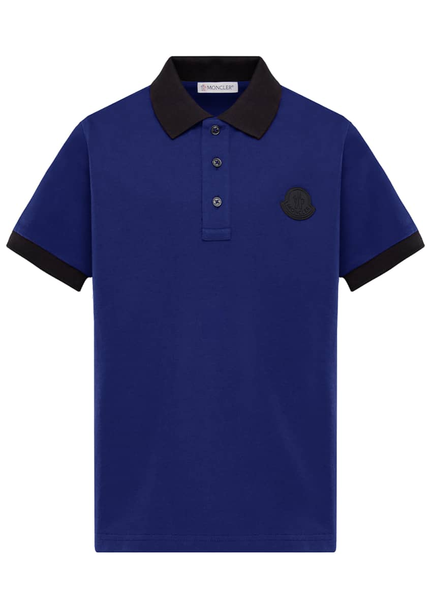 Image 1 of 3: Contrast-Trim Polo Shirt, Size 4-6