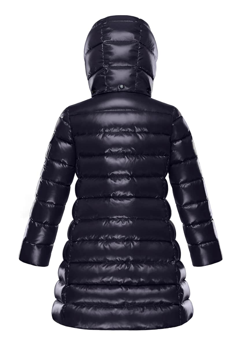 Image 2 of 3: Moka Laque Mini Me Quilted Hooded Long Coat, Size 4-6