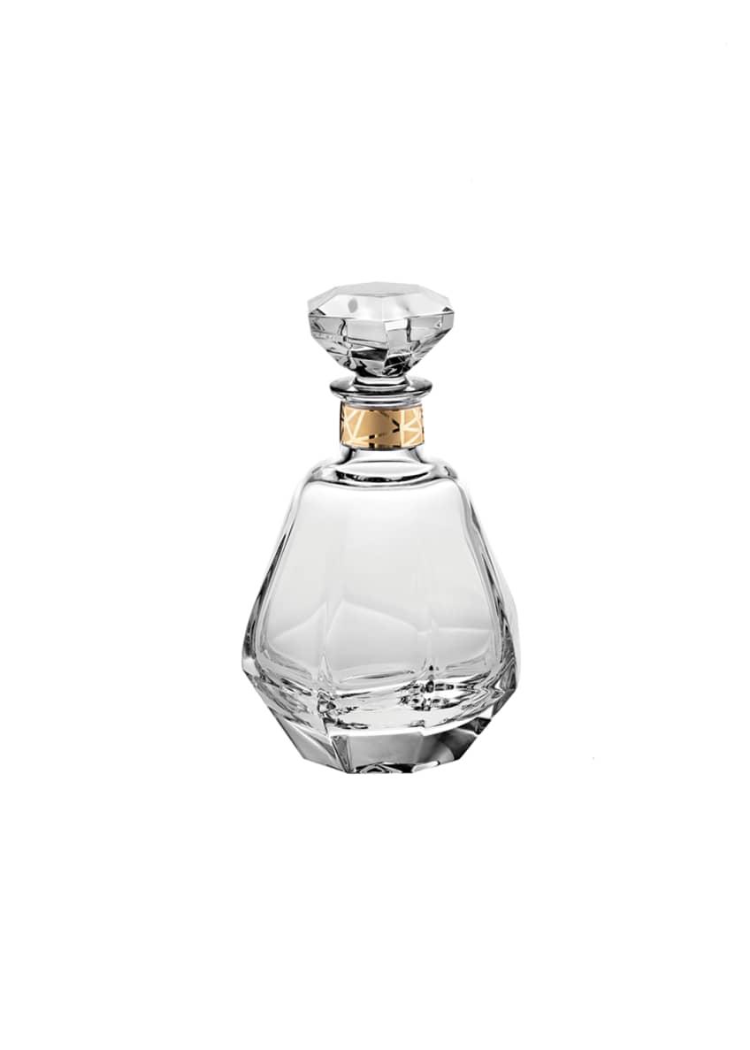 Vista Alegre Gemstone Whiskey Decanter with Gold Details