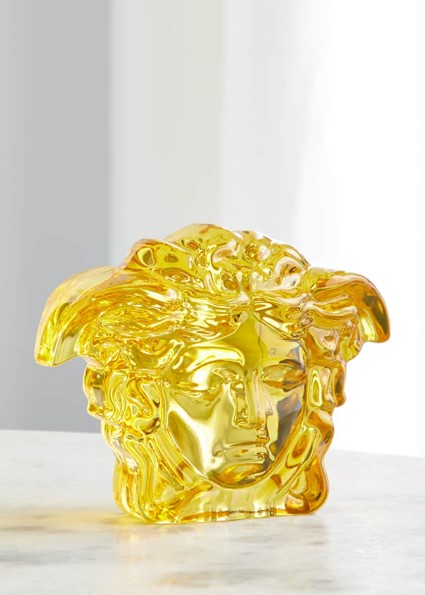 Image 1 of 1: Amber Medusa Paperweight
