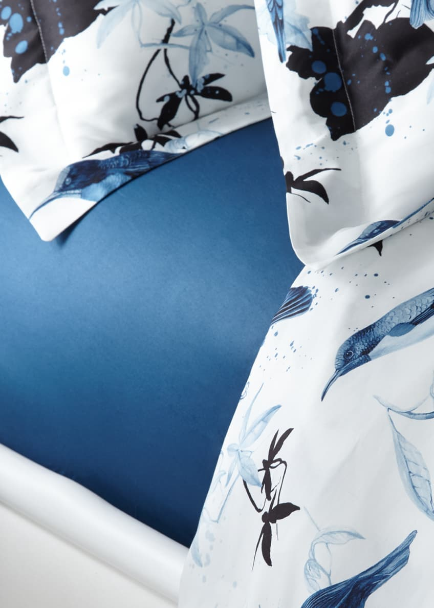 Image 1 of 1: Birds Ramage Queen Fitted Sheet