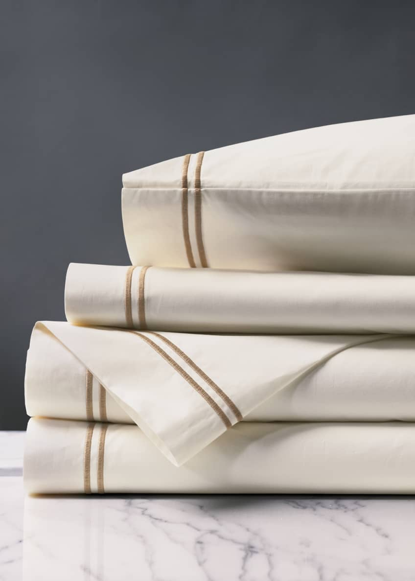 Image 1 of 1: Enzo Queen Sheet Set, Tan