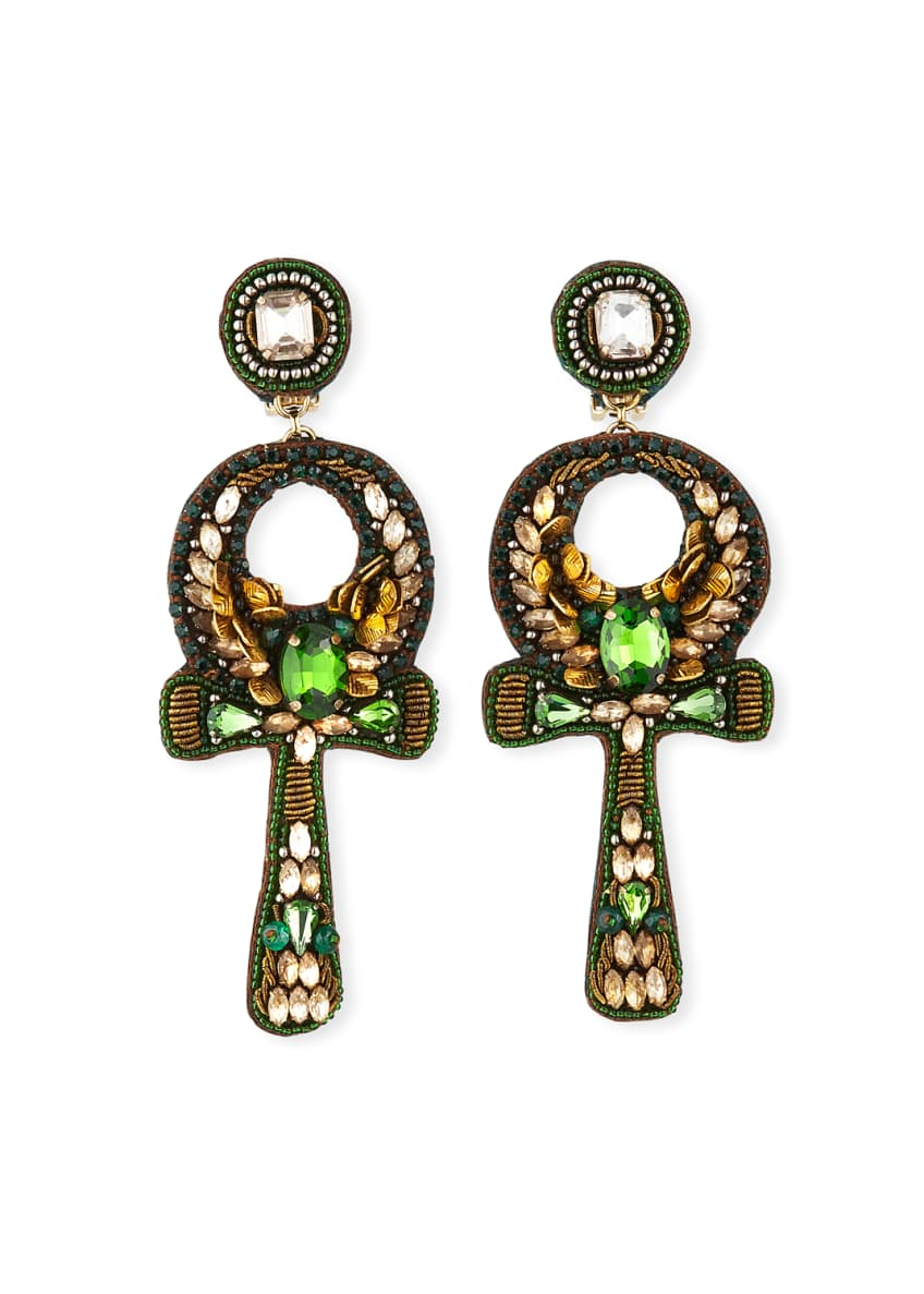 Image 1 of 2: Safiya Ankh Clip Earrings