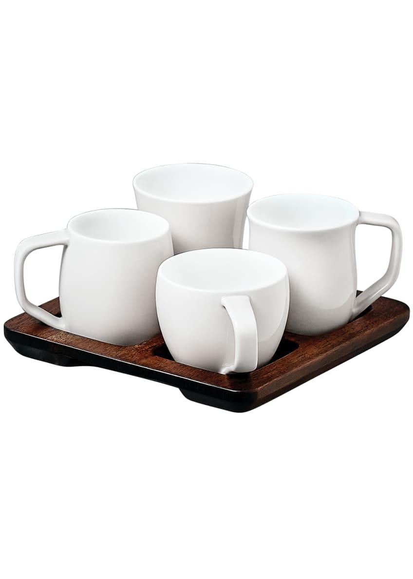 Espro Tasting Cup Set W/ Acacia Wood Tray