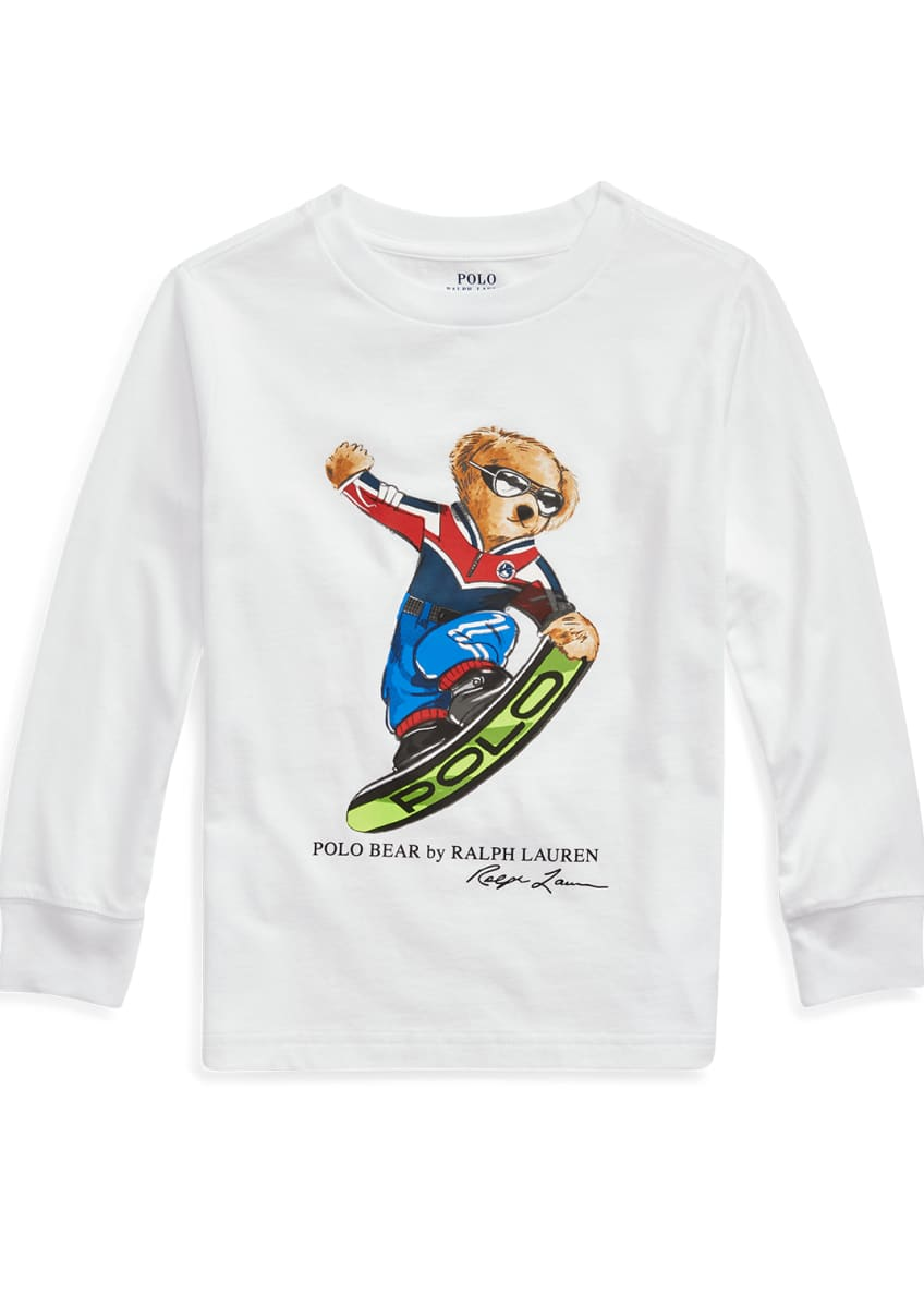 Ralph Lauren Childrenswear Boy's Snowboard Polo Bear Long-Sleeve