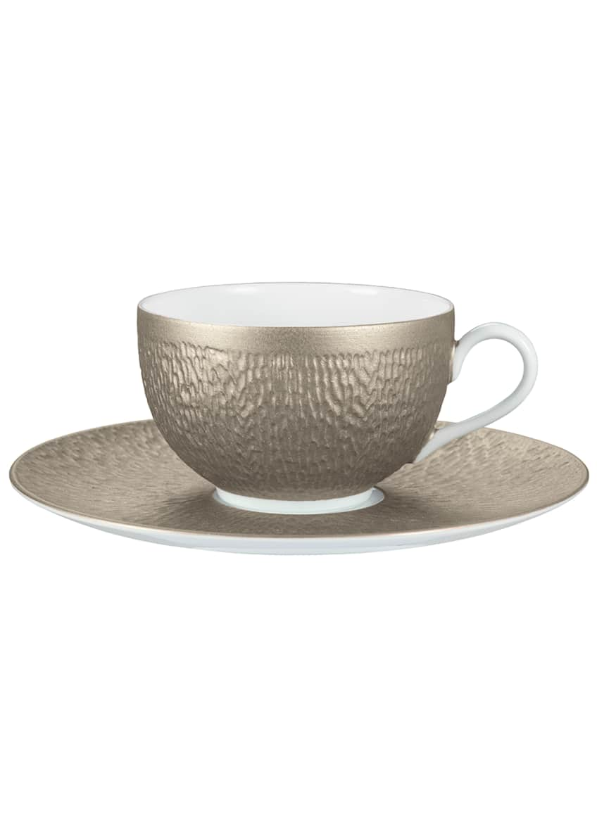 Image 1 of 1: Mineral Irise Warm Gray Tea Saucer