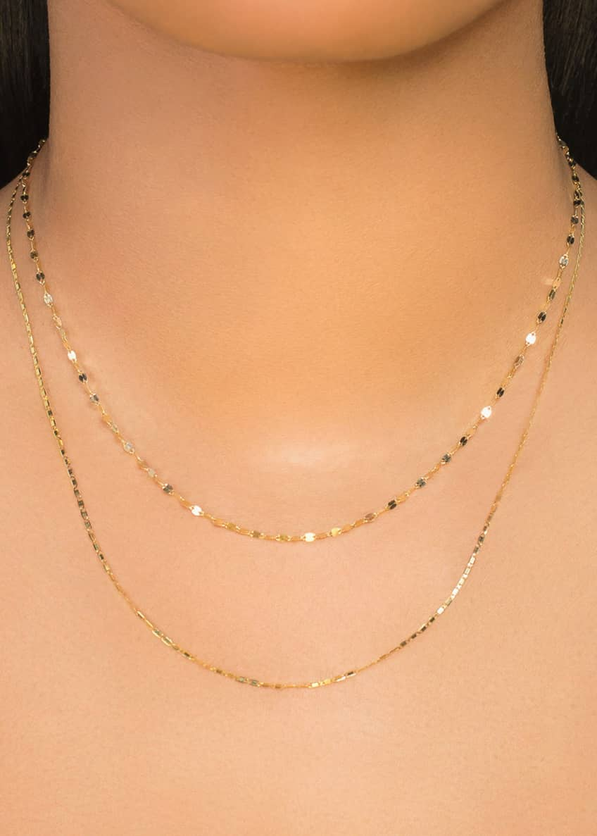 Image 2 of 2: 14k Tiered 2-Strand Necklace
