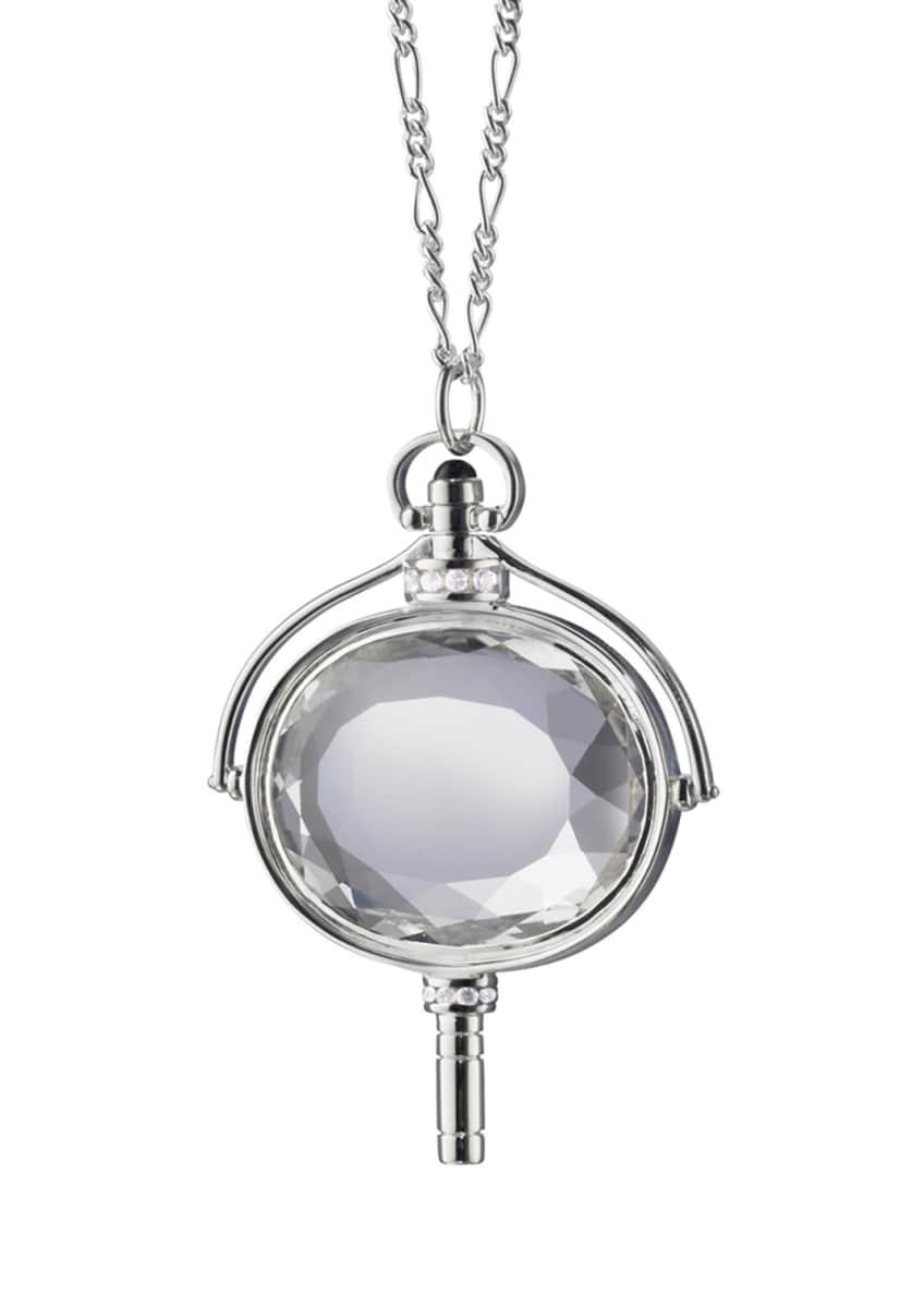 Monica Rich Kosann Large Silver Pocket Watch Key